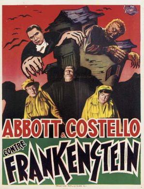 アボット&コステロミートフランケンシュタイン1948ベルギーポスター