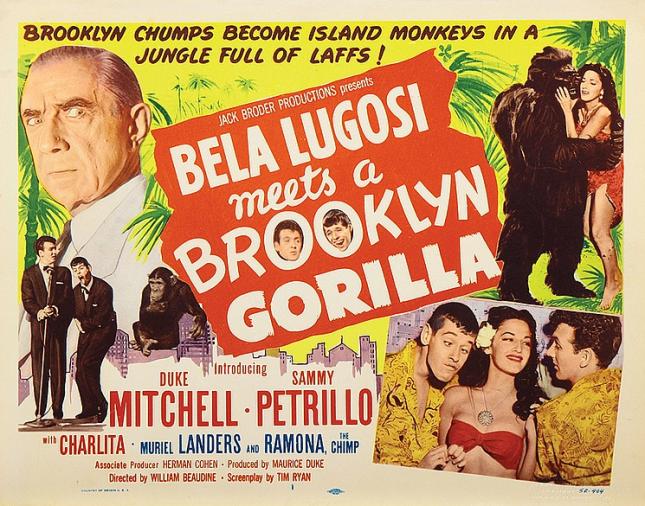 Bella Lugosi Meets A Brooklyn Gorilla Lobby Card