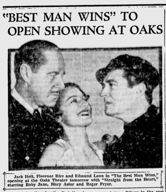 Best Man Wins, Berkeley Gazette, March 2, 1935
