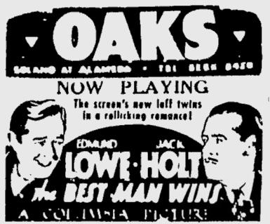 Best Man Wins, Berkeley Gazette, March 4, 1935