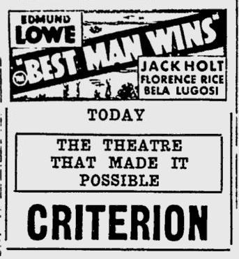 Best Man Wins, Spartanburg Herald, May 25, 1935