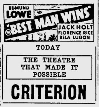 Best Man Wins, Spartanburg Herald, May 25, 1935