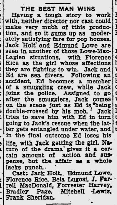 Best Man Wins, The Evening Independent, January 19, 1935