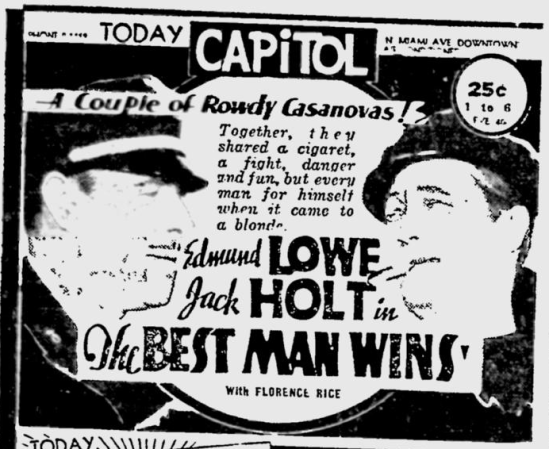 Best Man Wins, The Miami News, May 12, 1935