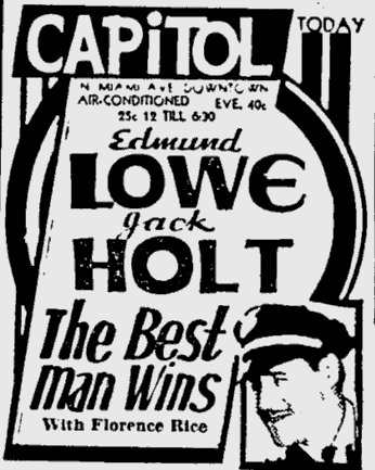 Best Man Wins, The Miami News, May 13, 1935