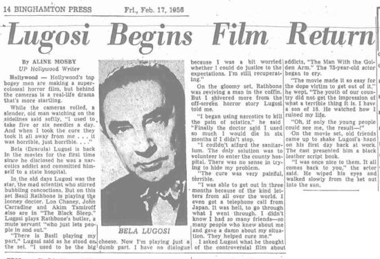 Binghampton Press, February 17, 1956