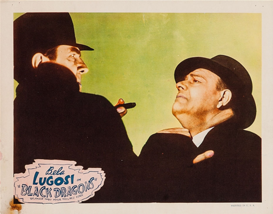 Black Dragons 1949 Re-Release Lobby Card 4