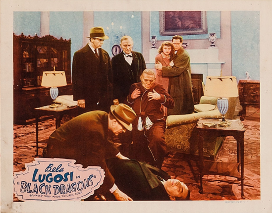 Black Dragons 1949 Re-Release Lobby Card 5