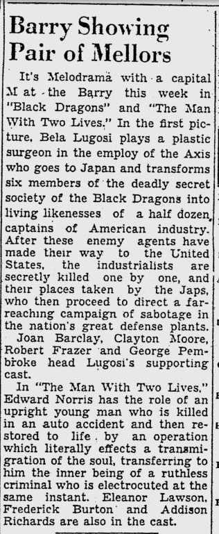 Black Dragons, Pittsburgh Post-Gazette - May 7, 1942 b