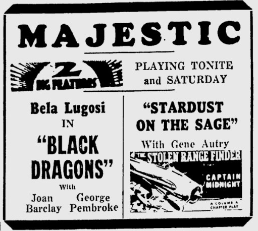 Black Dragons, The Daily Times, July 31, 1942