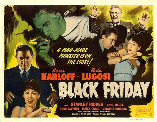 Black Friday 1947 Re-Release Half Sheet