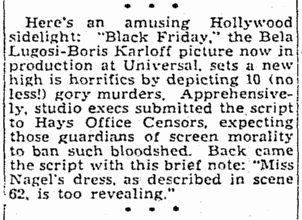Black Friday, Greensboro Daily News, January 16, 1940