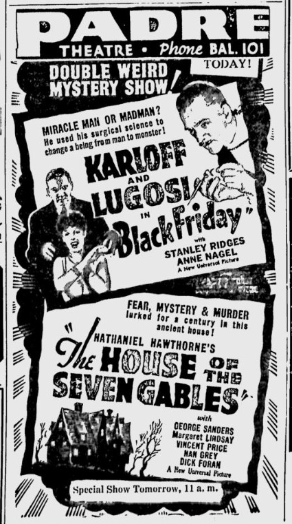 Black Friday, San Jose Evening News April 26, 1940