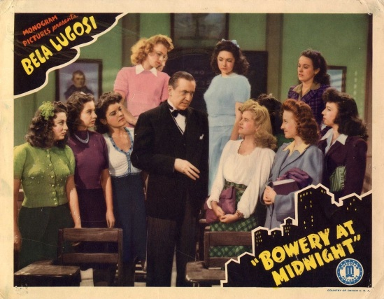 Bowery At Midnight Lobby Card 2