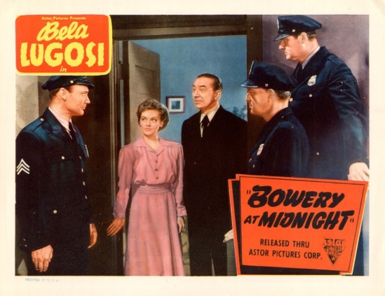 Bowery At Midnight Lobby Card 3