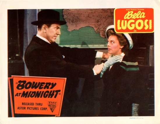 Bowery At Midnight Lobby Card 4
