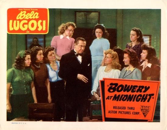 Bowery At Midnight Lobby Card 6