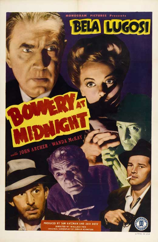 Bowery At Midnight One Sheet