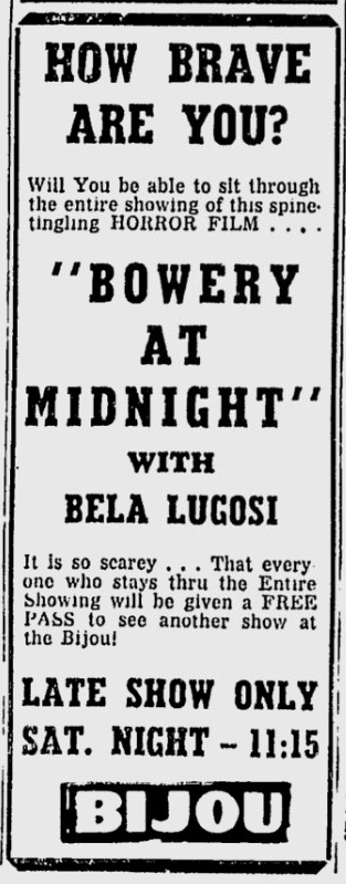 Bowery at Midnight, Star-News, November 16, 1951