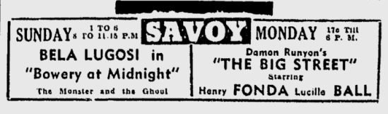 Bowery at Midnight, The Sunday Morning Star, February 7, 1943b