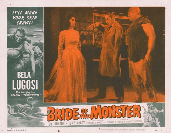 Bride Of The Monster Lobby Card 1
