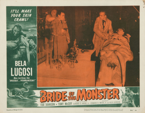 Bride Of The Monster Lobby Card 2