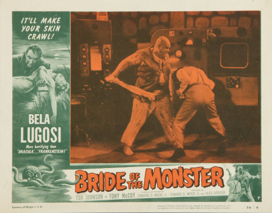 Bride Of The Monster Lobby Card 7