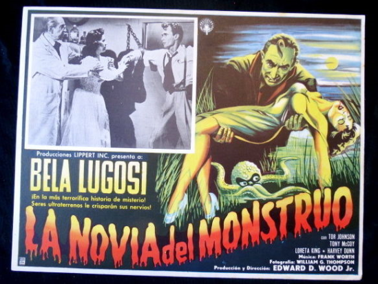 Bride Of The Monster Mexican Lobby Card