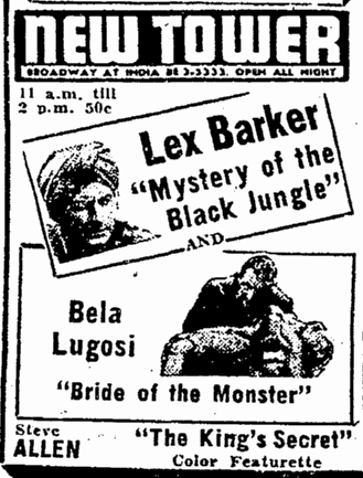 Bride of the Monster, San Diego Union, February 3, 1956