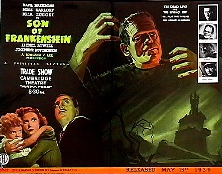 Son of Frankenstein British Trade Ad