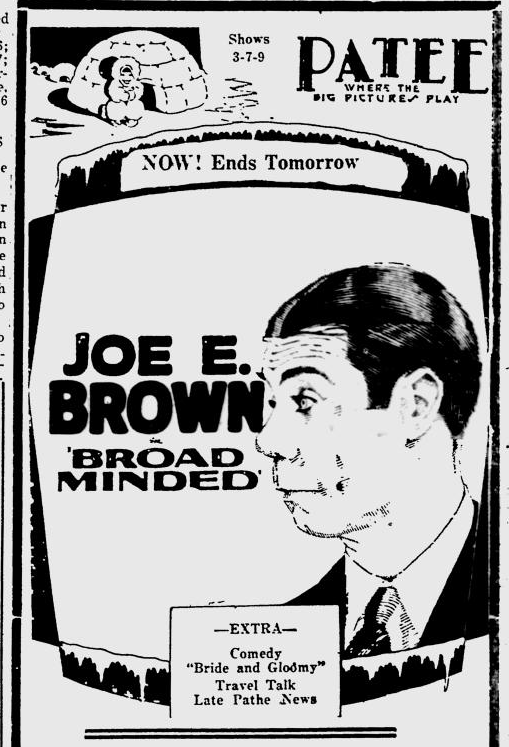 Broadminded, Lawrence Journal-World, August 18, 1931