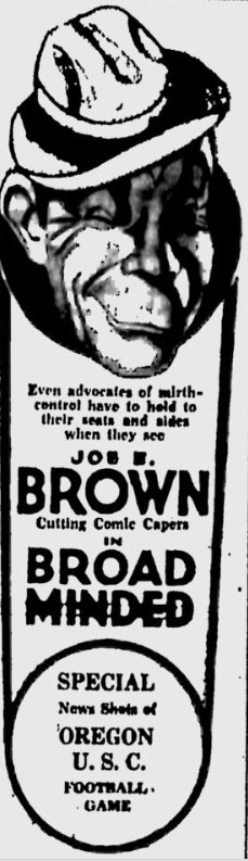 Broadminded, The Bulletin, October 27, 1931
