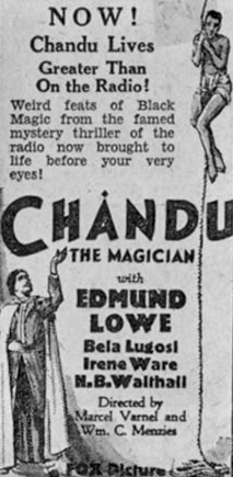 Chandu The Magician Newspaper Ad