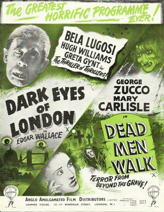 Dark Eyes of London Double Bill Press Book