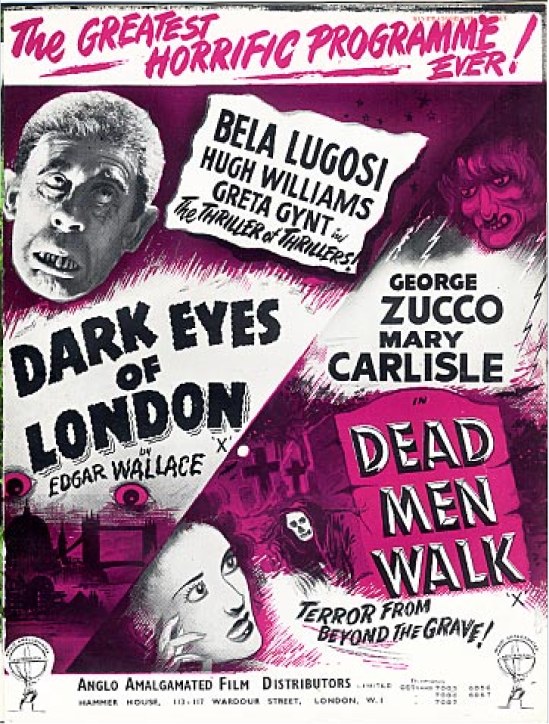 Dark Eyes of London Double-Bill Pressbool