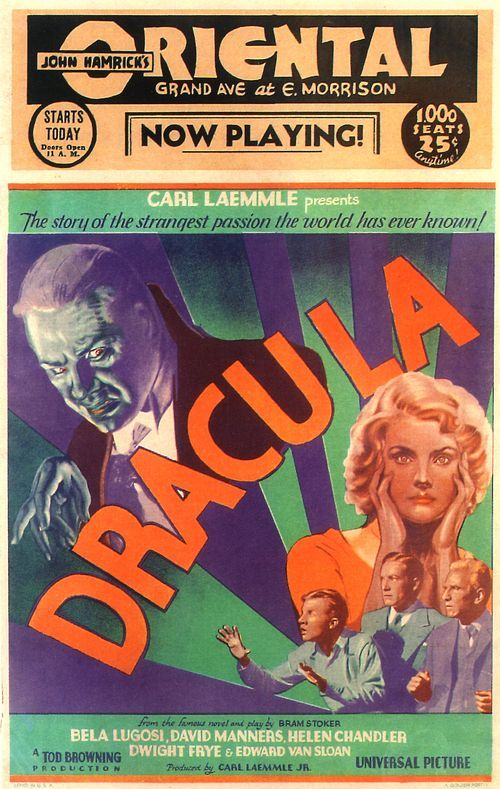 Dracula 1931 Window Card