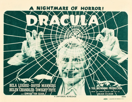 Dracula 1947 Re-Release Lobby Card