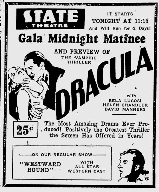 Dracula, Eugene, Register-Guard, August 22, 1931