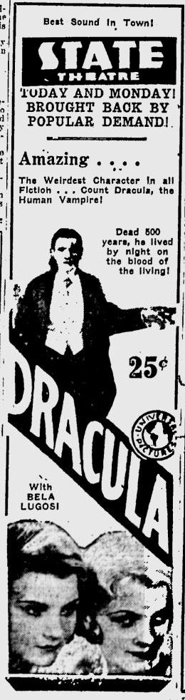 Dracula, Eugene, Register-Guard, August 23,1931
