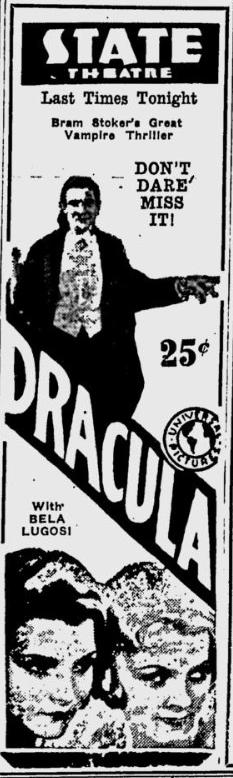 Dracula, Eugene, Register-Guard, August 24, 1931