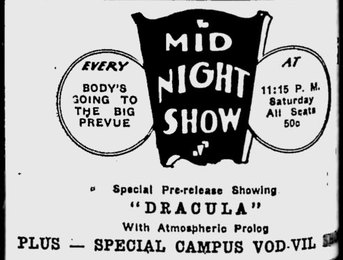 Dracula, Eugene, Register-Guard, March 13, 1931
