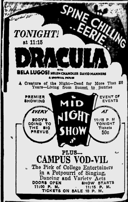 Dracula, Eugene, Register-Guard, March 14, 1931
