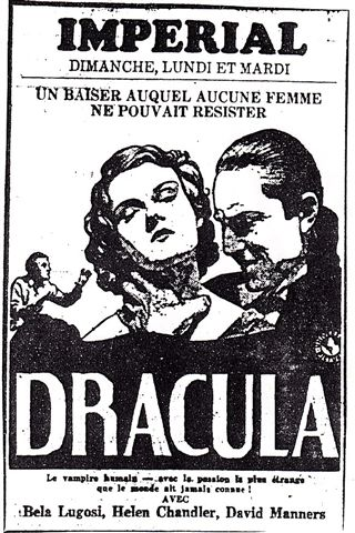 Dracula French Ad