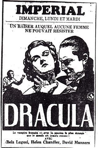 Dracula French Ad