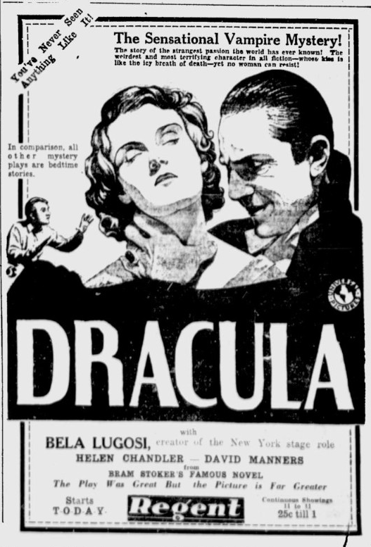 Dracula, Ottawa Citizen, March 6, 1931