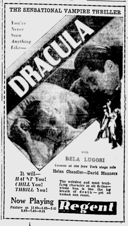 Dracula, Ottawa Citizen, March 7, 1931