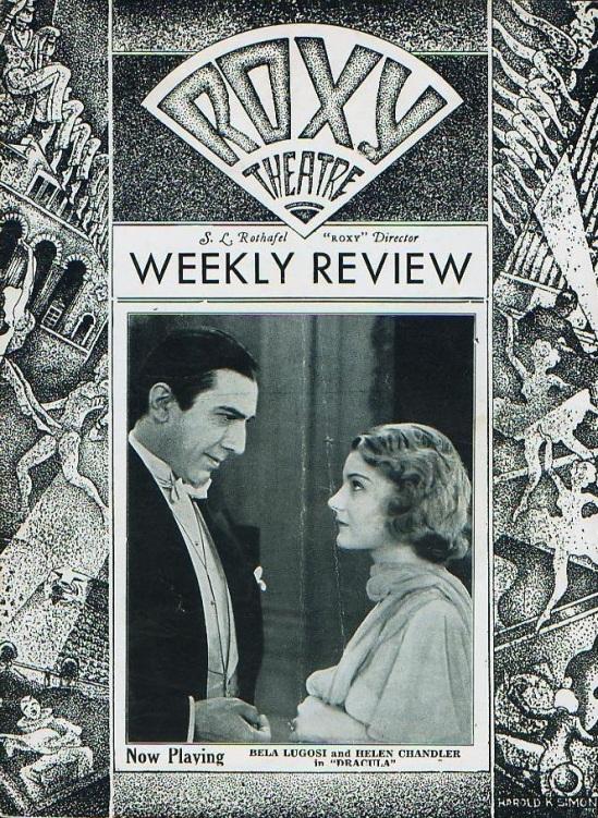 Dracula Roxy Theatre Programme