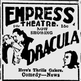 Dracula, Spokane Daily Chronicle, June 22, 1931
