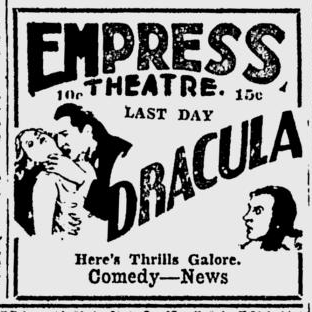 Dracula, Spokane Daily Chronicle, June 23, 1931