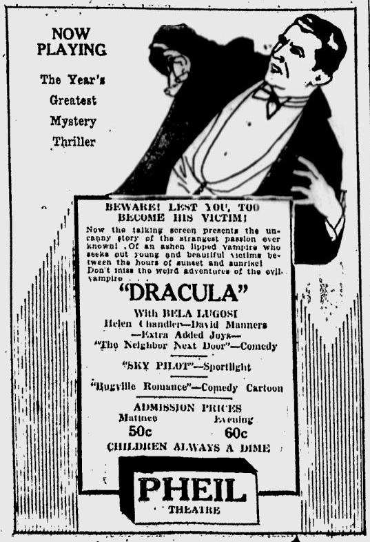 Dracula, St. Petersburgh Times, February 22, 1931